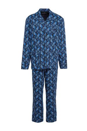 pyjama met all over print blauw