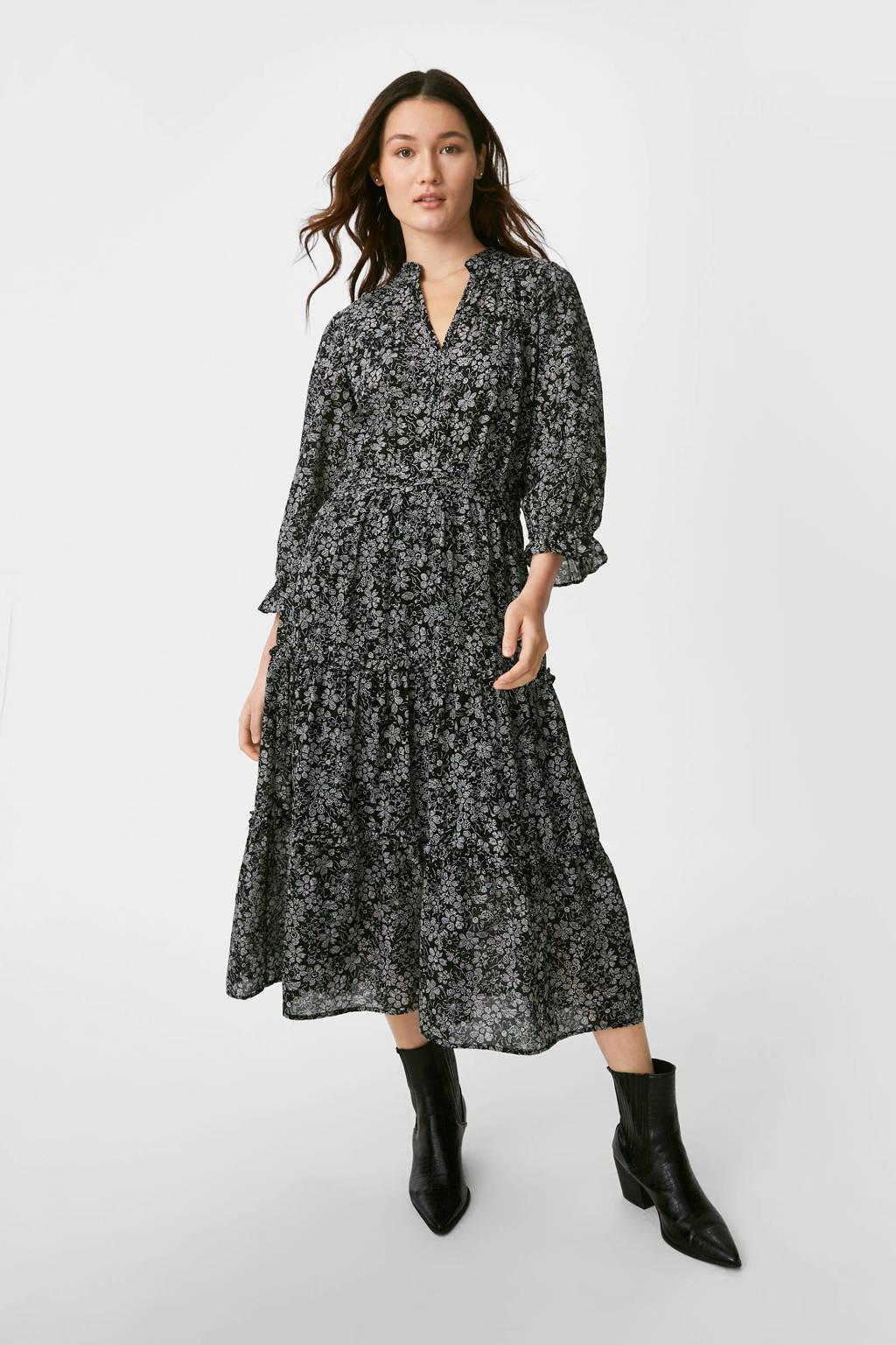 C&A Yessica trapeze jurk van biologisch katoen zwart, Zwart
