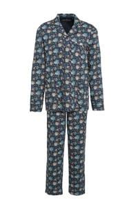 C&A Westbury Premium gebloemde pyjama donkerblauw, Donkerblauw