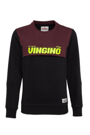 sweater Nima zwart/donkerrood