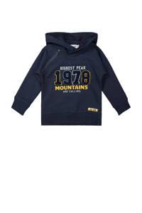 Dirkje hoodie met tekst donkerblauw, Donkerblauw