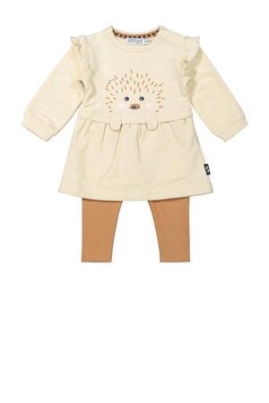 baby jurk + legging ecru/camel