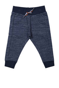 Dirkje gemêleerde joggingbroek donkerblauw melange, Donkerblauw melange
