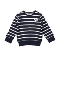 Dirkje gestreepte sweater donkerblauw/wit, Donkerblauw/wit