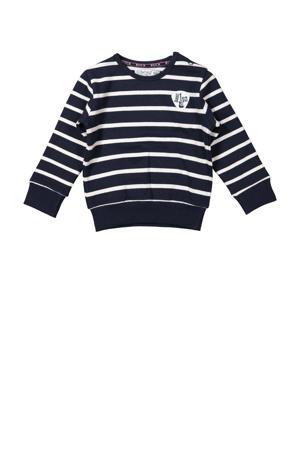 gestreepte sweater donkerblauw/wit