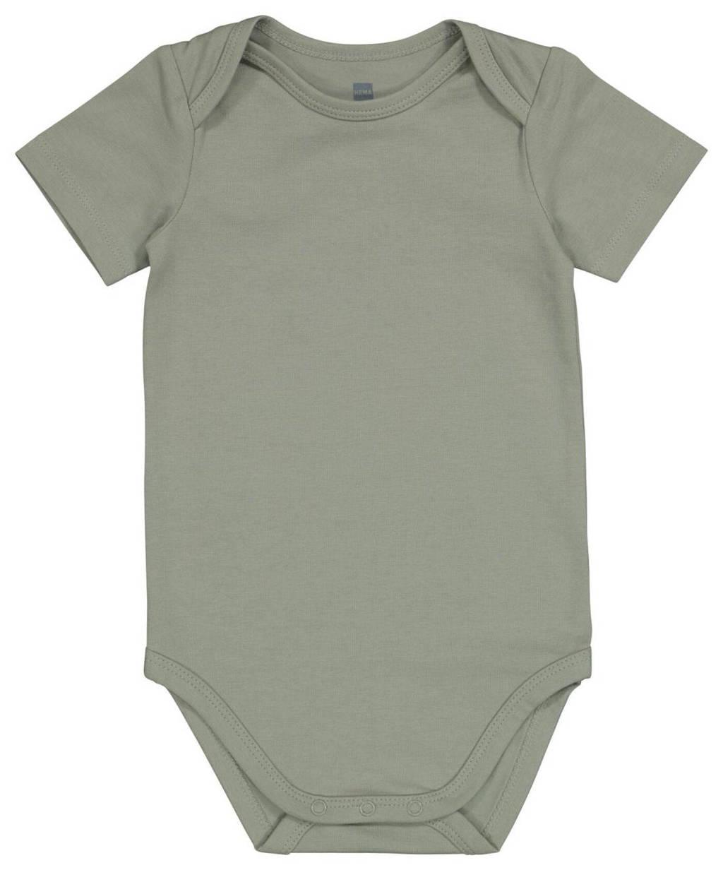 HEMA baby newborn romper groen, Groen