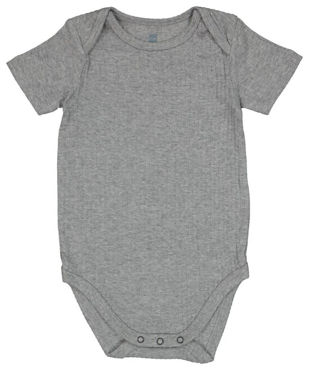HEMA baby newborn romper grijs, Grijs