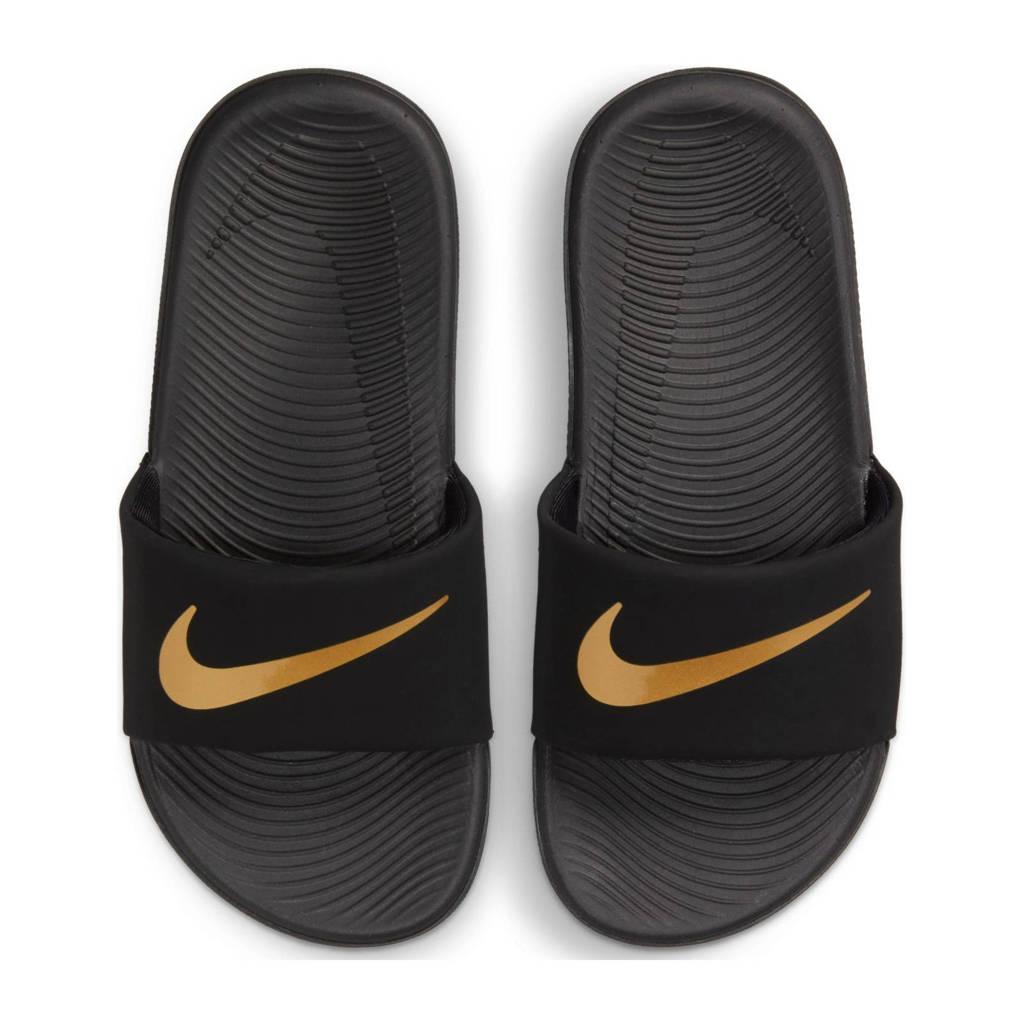 Nike Kawa Slide (GS/PS) slippers zwart/metallic goud, Zwart/metallic goud