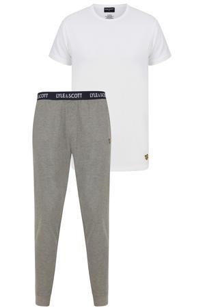 pyjama Benjamin wit/grijs
