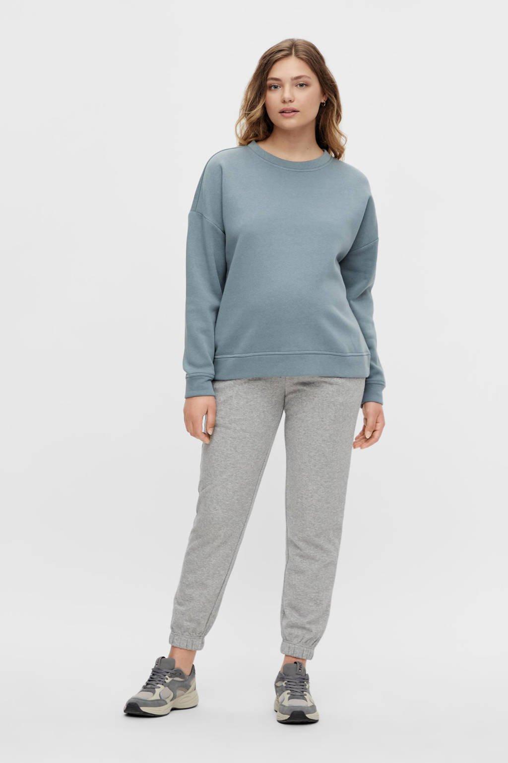 PIECES Maternity zwangerschapssweater PCMCHILLI grijsblauw, Grijsblauw