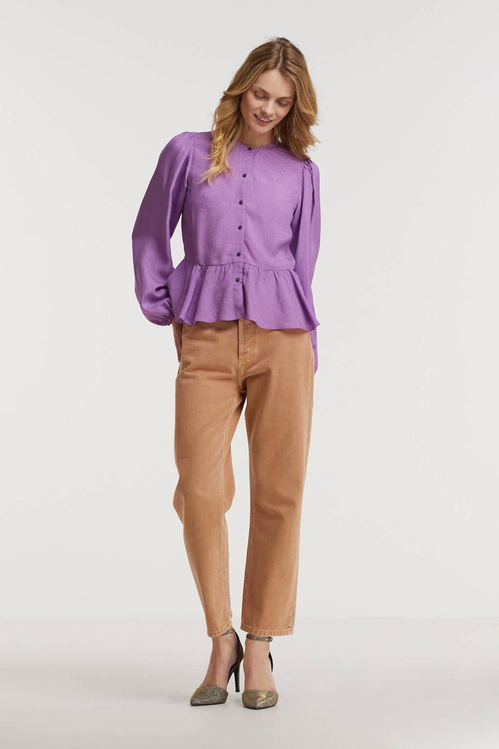 Scotch & Soda peplum blouse met plooien lila, Lila