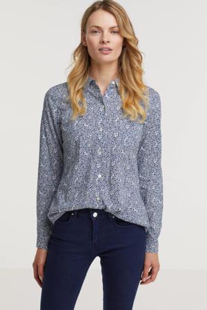 blouse met biologisch katoen blauw