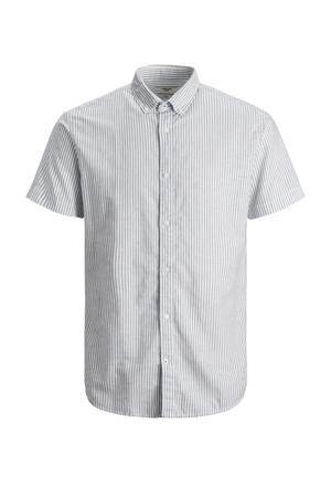 gestreept regular fit overhemd Plus Size grijs