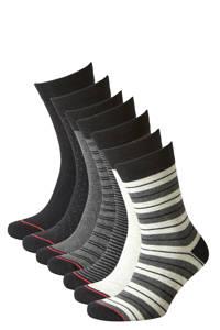 JACK & JONES sokken JACKIMO - set van 7 grijs/zwart, Grijs/zwart