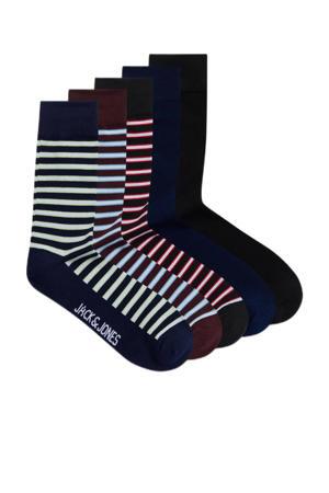 sokken Yarn - set van 5 donkerblauw