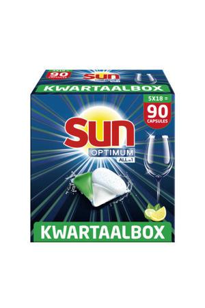 Sun Optimum All-in 1 Lemon Capsules – 90 vaatwastabletten