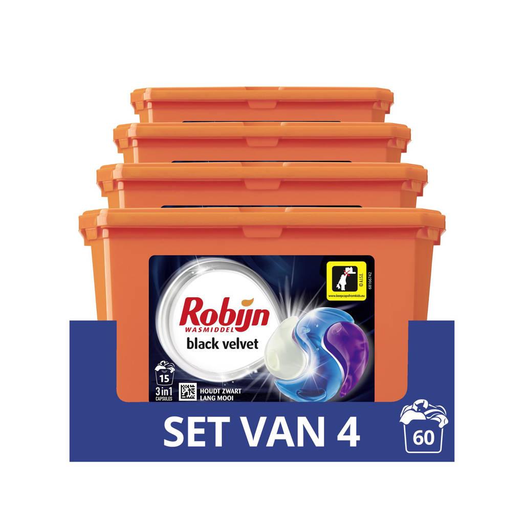 Robijn Robijn Black Velvet 3 in 1 Wascapsules - 4 x 15 wasbeurten - 15 wasbeurten