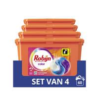 Robijn Robijn Color 3 in 1 Wascapsules - 4 x 15 wasbeurten - 15 wasbeurten