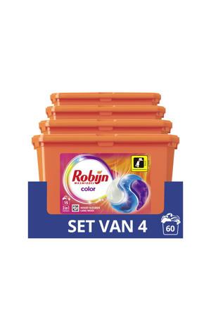Robijn Color 3 in 1 Wascapsules - 4 x 15 wasbeurten - 15 wasbeurten