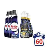 Robijn Robijn Black Velvet Wasmiddel en Beautiful Mystery Wasverzachter - 60 wasbeurten - 60 wasbeurten