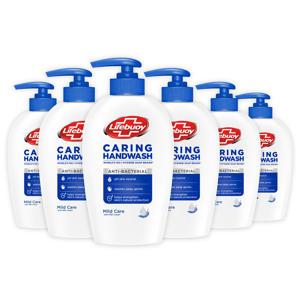 Lifebuoy Caring Handzeep Hygiëne & Care Antibacterieel Zeeppompje - 6 x 250 ml - Voordeelverpakking