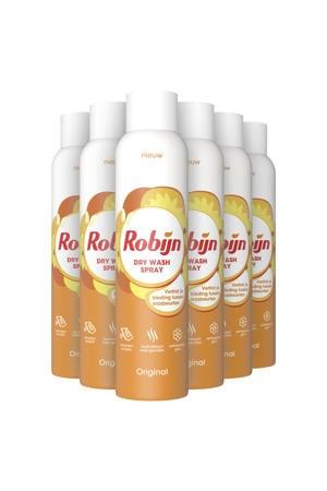 Robijn Dry WashSpray Original - 6 x 200 ml - 25 wasbeurten