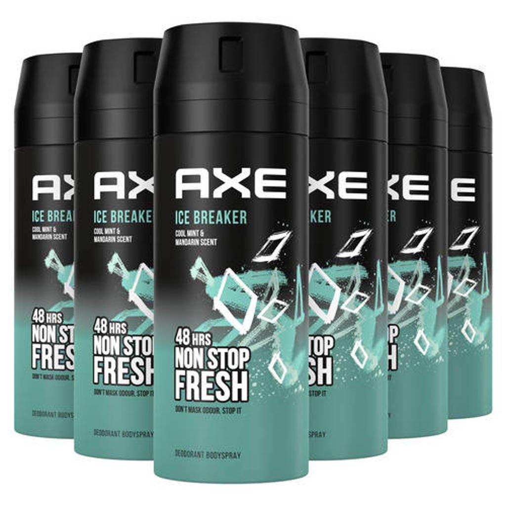 Axe Axe Ice Breaker Bodyspray Deodorant - 6 x 150 ml - Voordeelverpakking