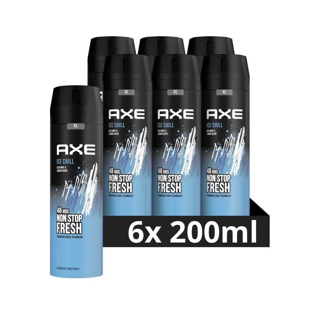 Axe Axe Ice Chill Bodyspray Deodorant - 6 x 200 ml - Voordeelverpakking