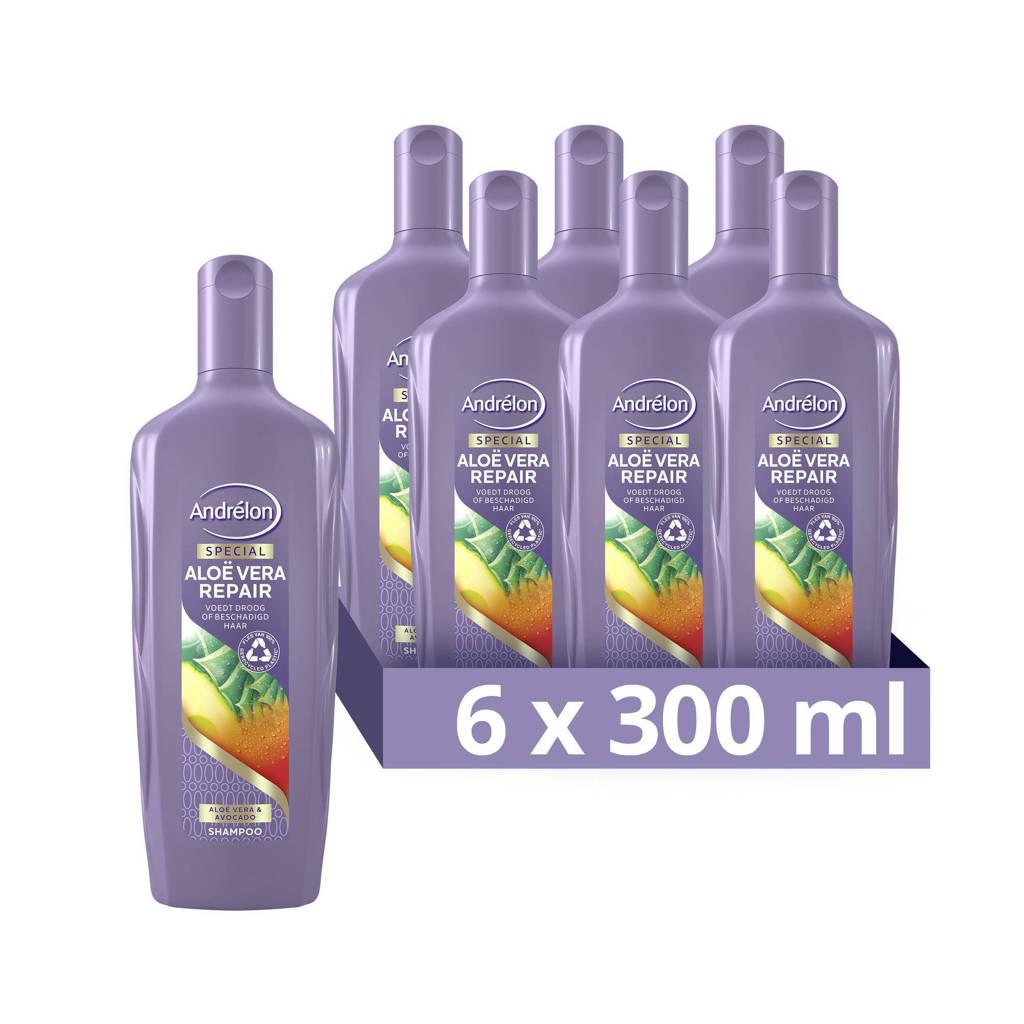 Andrelon Andrélon Special Aloë Vera Repair Shampoo - 6 x 300 ml - Voordeelverpakking