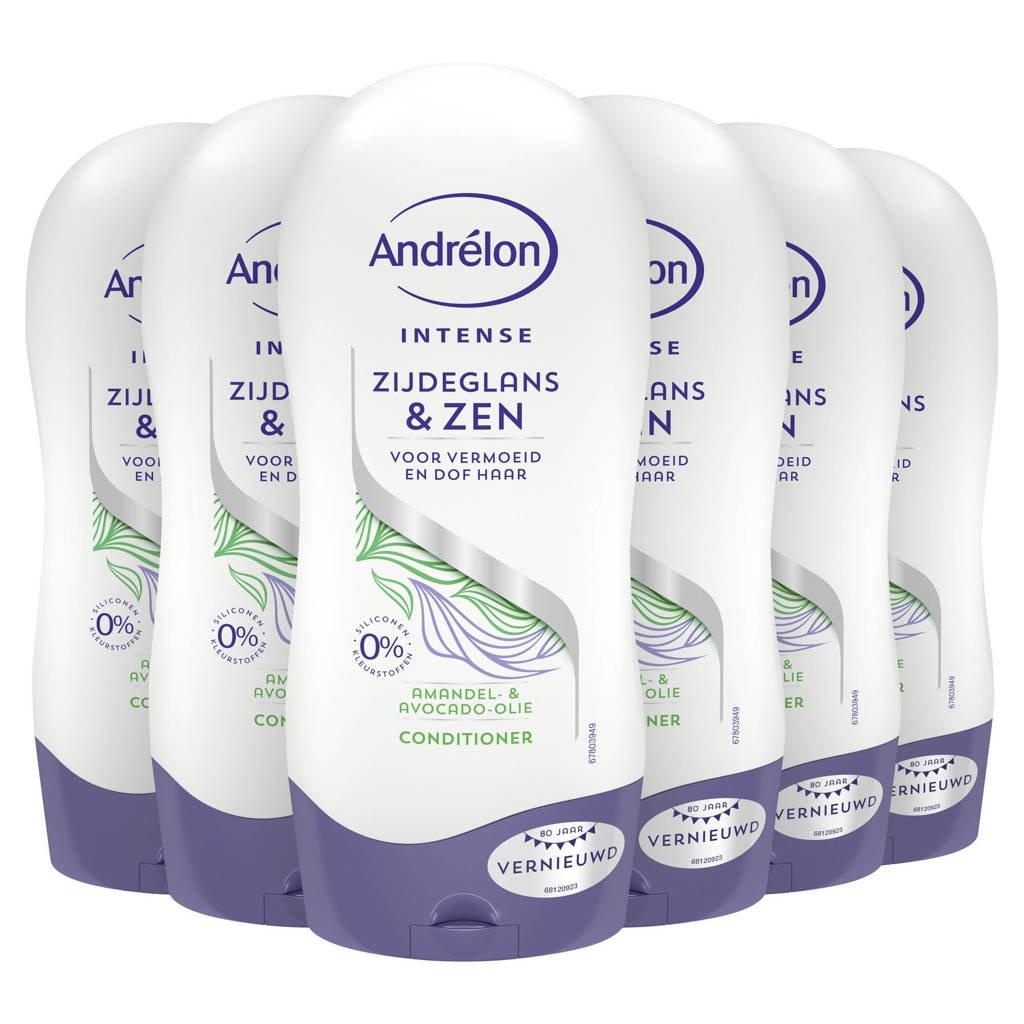 Andrelon Andrélon Zijdeglans & Zen Conditioner - 6 x 300 ml - Voordeelverpakking