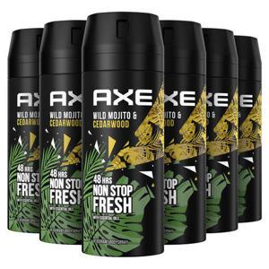 Axe Mojito & Cedarwood Pepper Bodyspray Deodorant - 6 x 150 ml - Voordeelverpakking