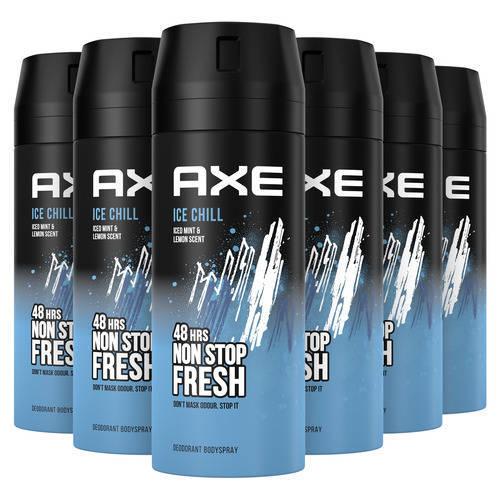 Wehkamp-Axe Axe Ice Chill Bodyspray Deodorant - 6 x 150 ml - Voordeelverpakking-aanbieding