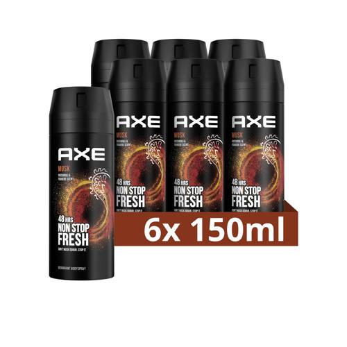 Wehkamp-Axe Axe Musk Bodyspray Deodorant - 6 x 150 ml - Voordeelverpakking-aanbieding