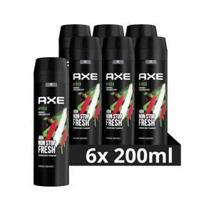 Axe Africa Bodyspray Deodorant - 6 x 200 ml - Voordeelverpakking
