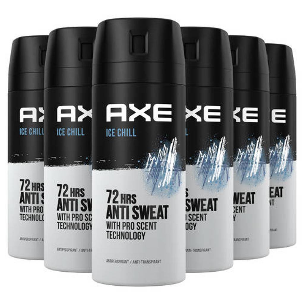 Axe Axe Ice Chill Deodorant Antitranspirant - 6 x 150 ml - Voordeelverpakking