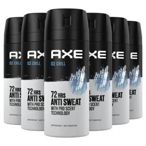 Axe Ice Chill Deodorant Antitranspirant - 6 x 150 ml - Voordeelverpakking