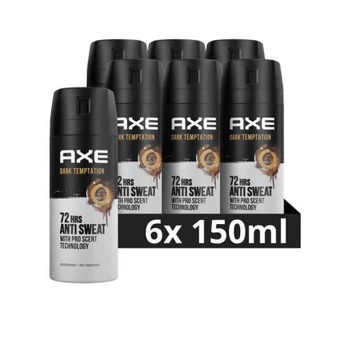 Wehkamp-Axe Axe Dark Temptation Deodorant Antitranspirant - 6 x 150 ml - Voordeelverpakking-aanbieding