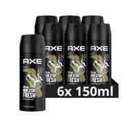 Axe Axe Gold Bodyspray Deodorant - 6 x 150 ml - Voordeelverpakking