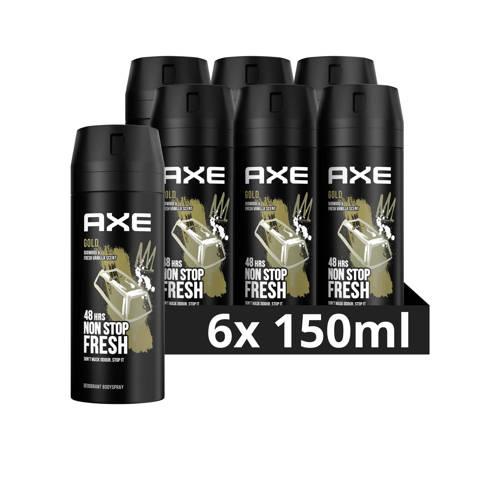 Wehkamp-Axe Axe Gold Bodyspray Deodorant - 6 x 150 ml - Voordeelverpakking-aanbieding