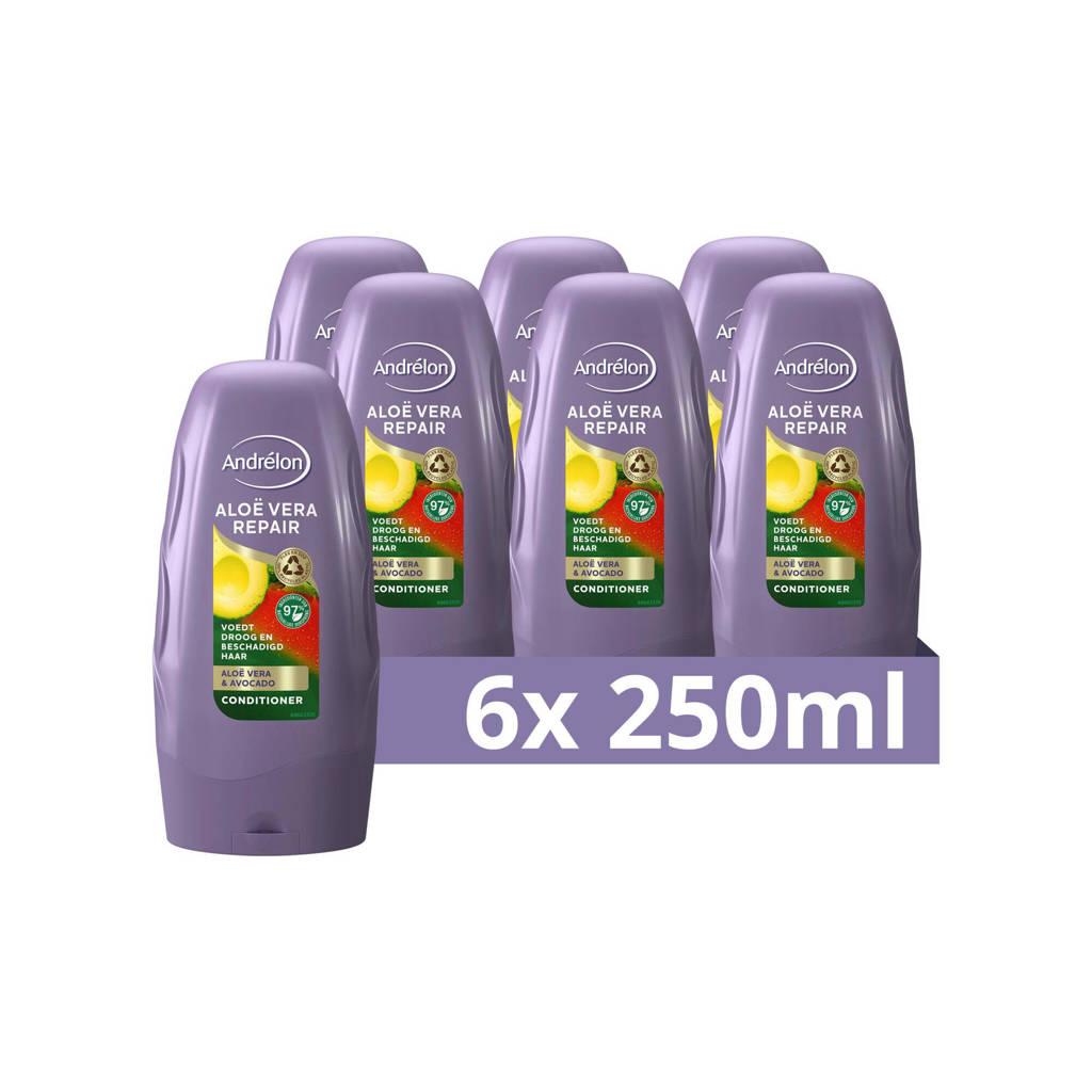 Andrelon Andrélon Aloë Vera Repair Conditioner - 6 x 300 ml - Voordeelverpakking