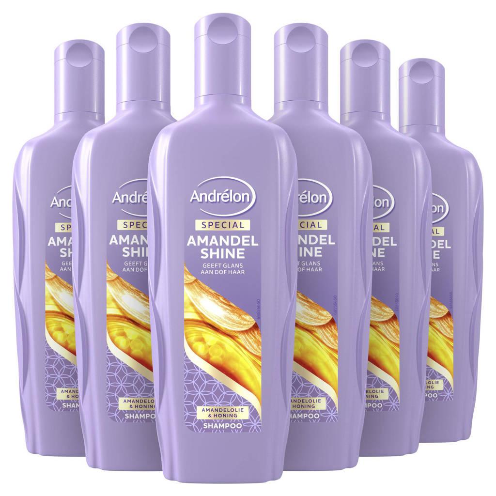 Andrelon Andrélon Special Amandel Shine Shampoo - 6 x 300 ml - Voordeelverpakking