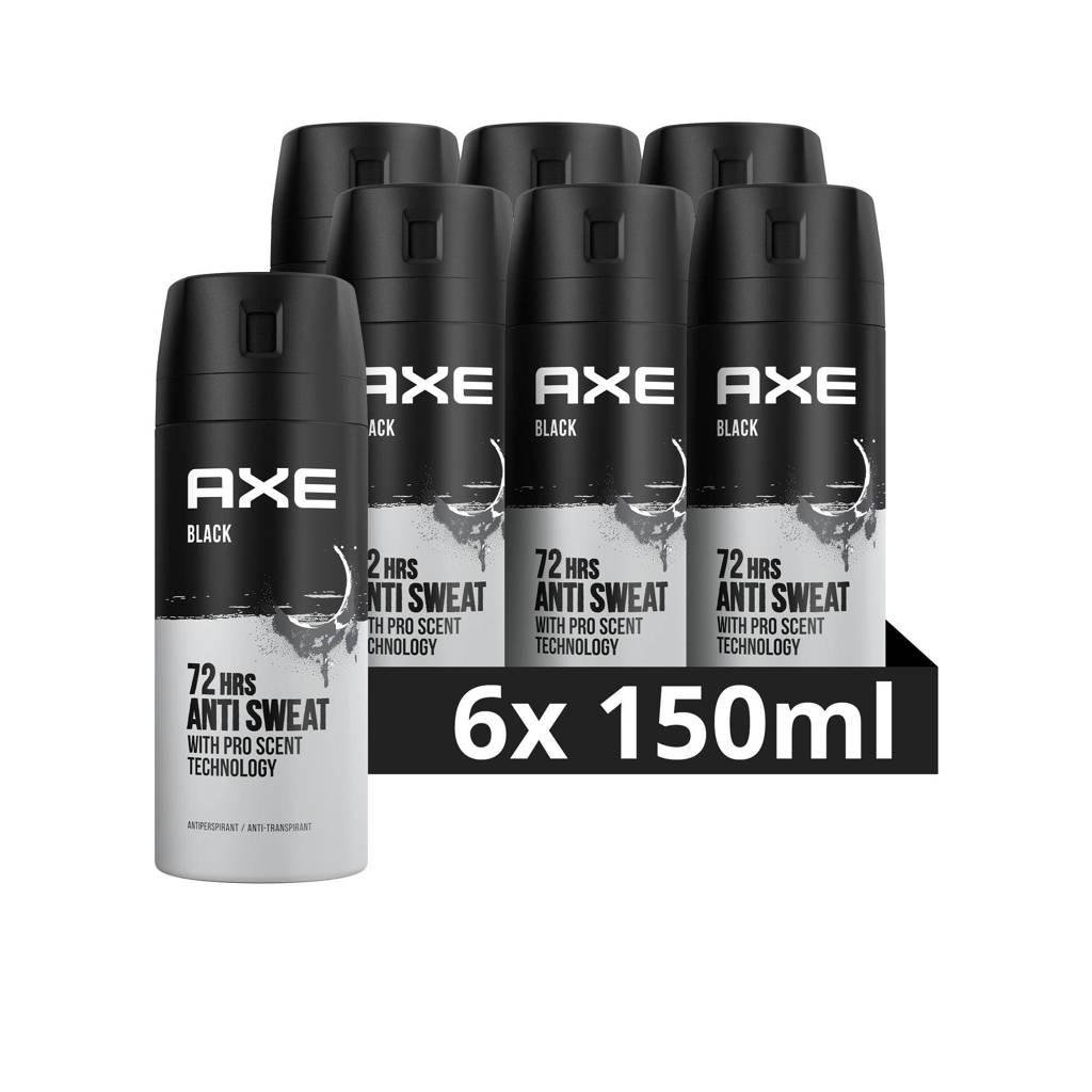 Axe Axe Black Deodorant Antitranspirant - 6 x 150 ml - Voordeelverpakking