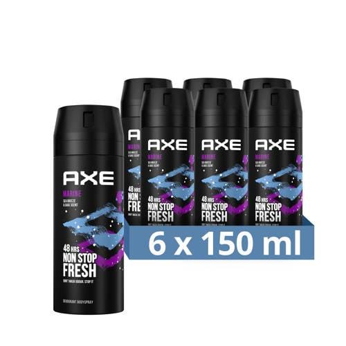Wehkamp-Axe Axe Marine Bodyspray Deodorant - 6 x 150 ml - Voordeelverpakking-aanbieding
