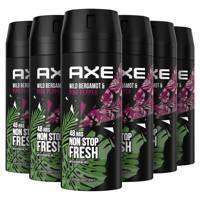 Axe Axe Bergamot & Pink Pepper Bodyspray Deodorant - 6 x 150 ml - Voordeelverpakking