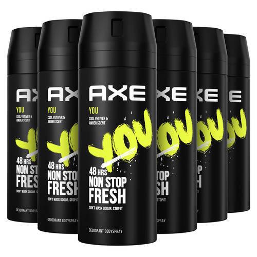 Wehkamp-Axe Axe You Bodyspray Deodorant - 6 x 150 ml - Voordeelverpakking-aanbieding