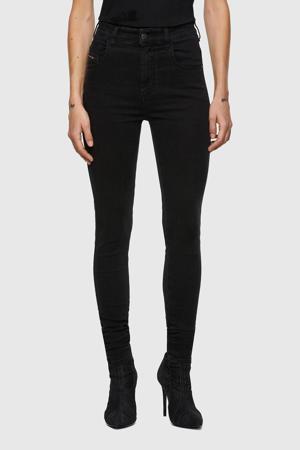 high waist skinny jeans D-Slandy-High zwart