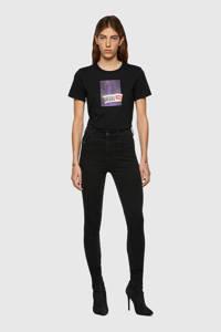 Diesel high waist skinny jeans D-Slandy-High zwart, Zwart