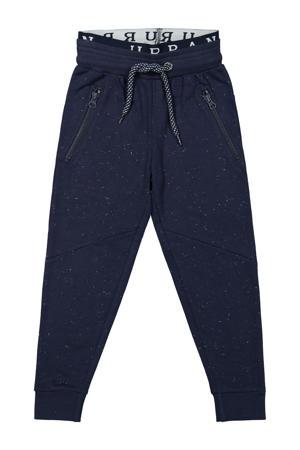 gemêleerde regular fit joggingbroek donkerblauw