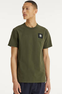 G-Star RAW T-shirt van biologisch katoen groen, Groen