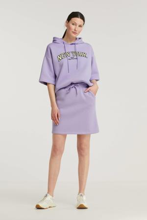 gemêleerde mini rok lila